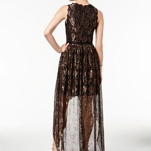 a5e6a0a5ca2a Adrianna Papell Dresses - Adrianna Papell Metallic Lace High-Low Dress